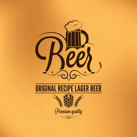 beer card: beer lager vintage background  Illustration