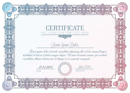 oorkonde: certificaat kader charter diploma