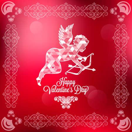 happy valentines day: holiday frame happy valentines day
