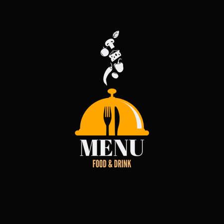 menu design food drink dishes concept  Illustration