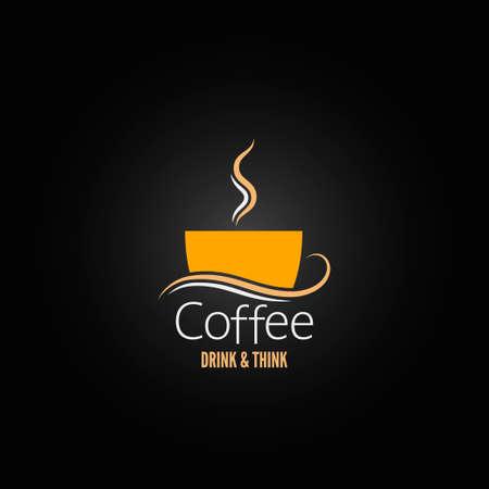 커피 한잔 라벨 개념의 메뉴 일러스트