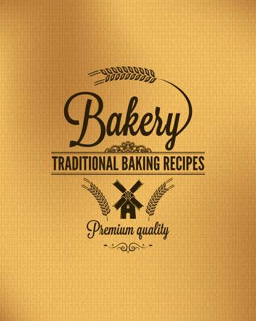 vintage bread label background  Illustration