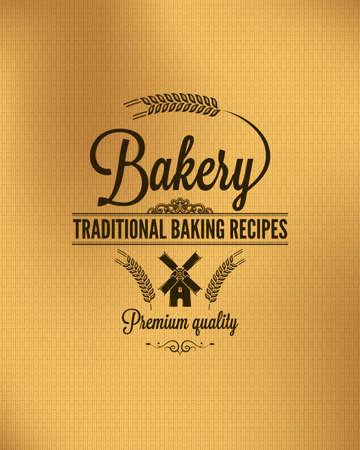 vintage bread label background  Illustration