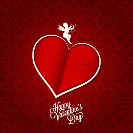 holiday background: valentines day card happy holiday background