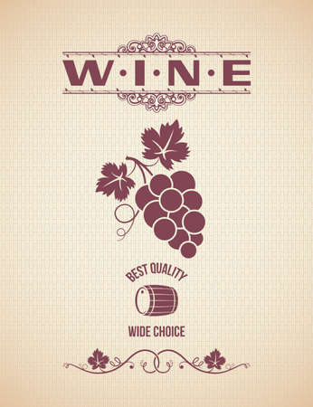grapes wine: wine vintage grapes label background