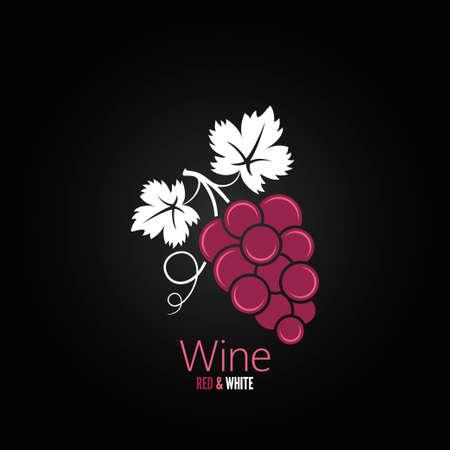 black grape: wine grapes design menu background