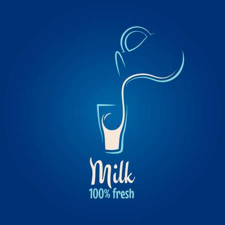 milk products: milk design background