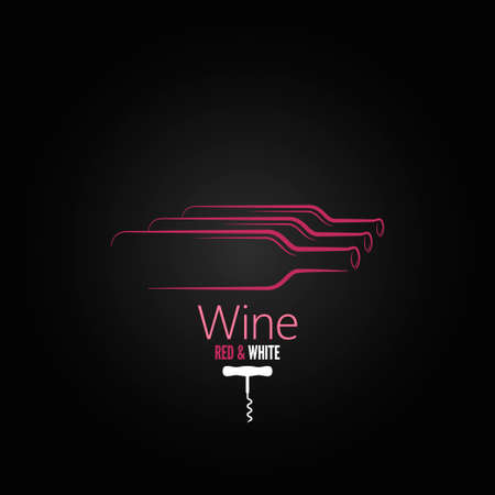 wine bottle corkscrew design background  Vector