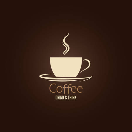 coffee cup design background  Illustration