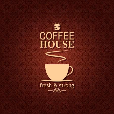 hot line: coffee cup vintage design background