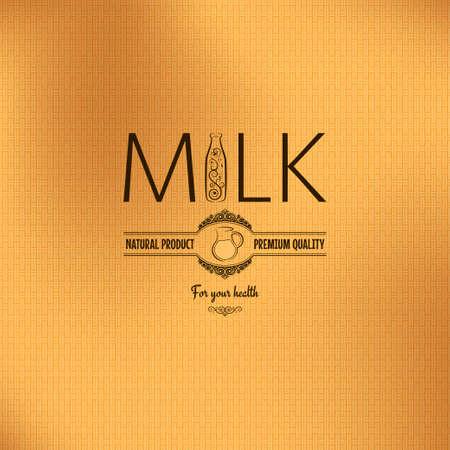 milk bottle jug design vintage background