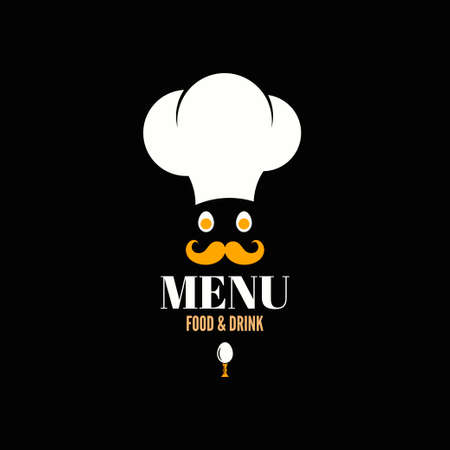 menu design chef egg concept background  Vector
