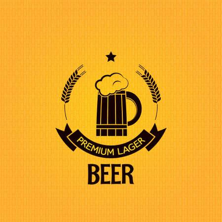 beer mug barley design background Stock Vector - 24028941