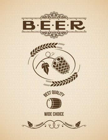 beer hops design vintage background Stock Vector - 24028947