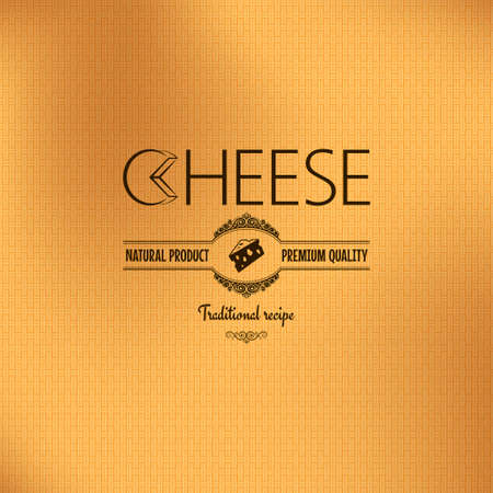 cheese: cheese vintage label design background 10 eps