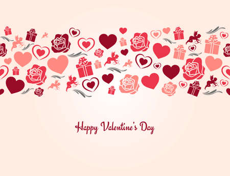 valentines day heart seamless background 8 eps Vector