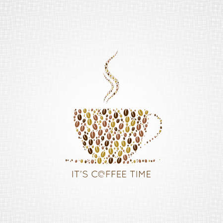 coffee cup beans design background 8 eps Vector