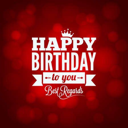 birthday present:  happy birthday sign design background  Illustration