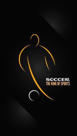 サッカーの紋章のシンボル デザインの背景  イラスト・ベクター素材