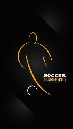 soccer emblem symbol design background Ilustrace