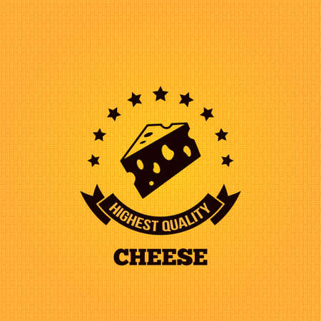 cheese vintage label design background