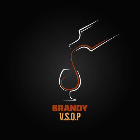 brandy glass: brandy glass bottle splash design background