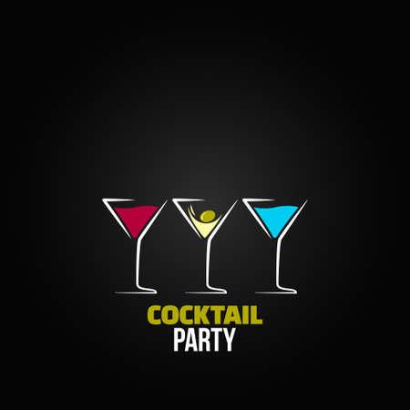 martini glass: cocktail party glass design menu background