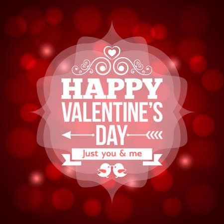 invitación del día de San Valentín de fondo de diseño