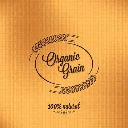 plante design: grain cru organique de conception de fond Illustration