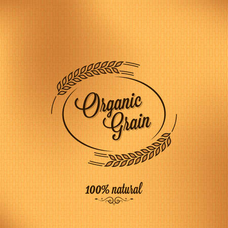 cereal:  grain organic vintage design background