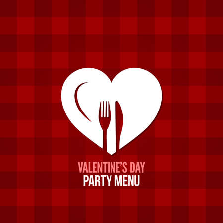 valentines day menu  Vector
