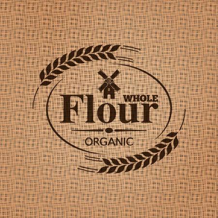 farine sac texture de fond