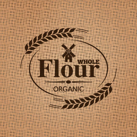 flour mill:  flour sackcloth texture background Illustration