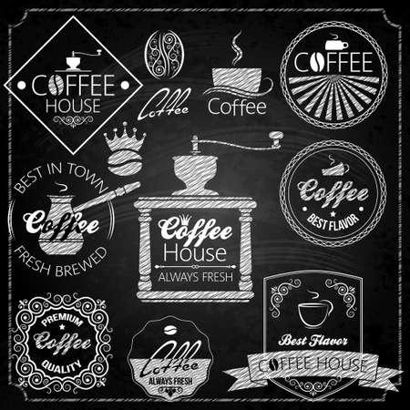 caf�: elementi set caff� lavagna Vettoriali