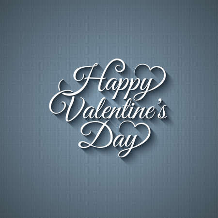 valentines day:  valentines day vintage lettering design background Illustration