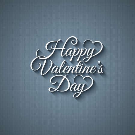Valentines Day vintage nápis provedení pozadí Ilustrace