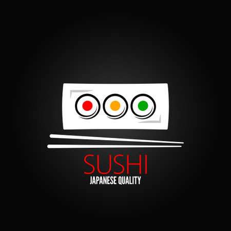 sushi roll plate menu design background Vector