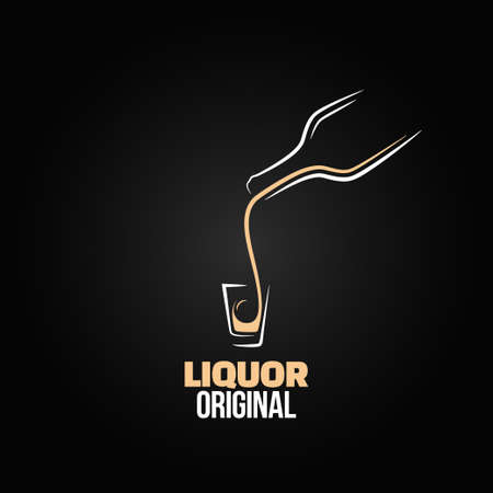 botella de licor: botella de vidrio de licor tiro menú de diseño de fondo