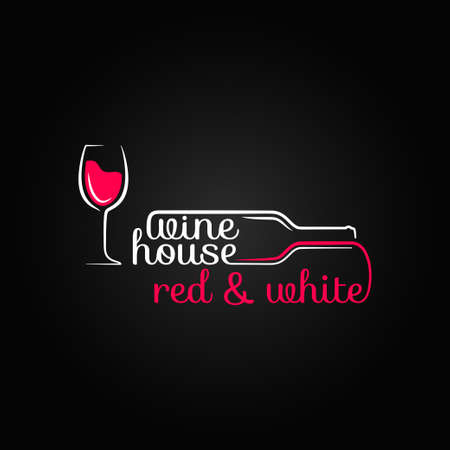 bouteille de vin: verre de vin maison de bouteille de conception de fond
