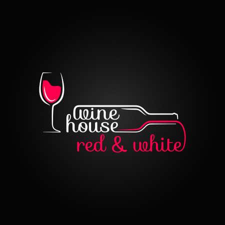 wine glass bottle house design background