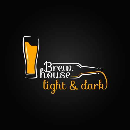 cerveza negra: casa de la botella de cristal de cerveza de diseño de fondo