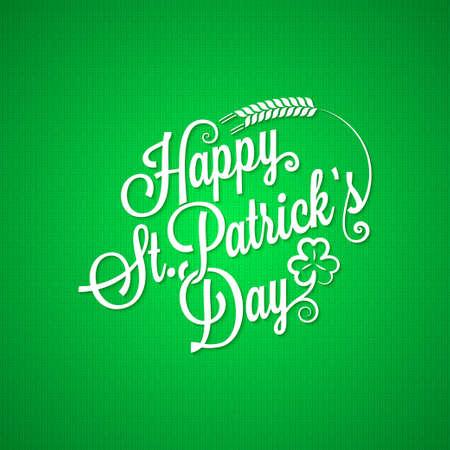 celtic shamrock: patrick day vintage lettering background
