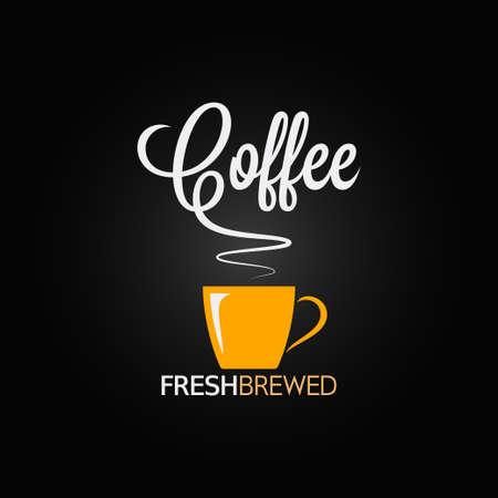 tazas de cafe: Taza de café de sabor de fondo de diseño