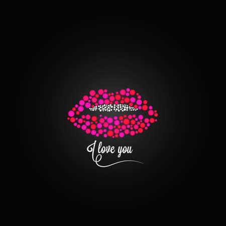 lip kiss: lips kiss lipstick love design background Illustration