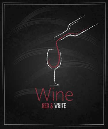 Weinglas Tafel Menü Standard-Bild - 26162724