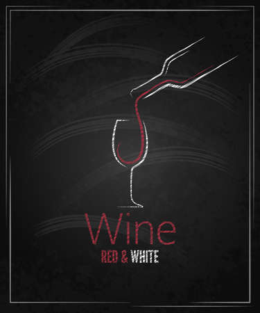 wine glass chalkboard menu