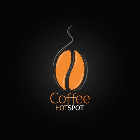 chicchi di caff�: caff� menu di progettazione bean Vettoriali