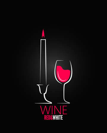 wine glass candle design background Vector