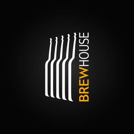 cerveza negra: botella de vidrio de cerveza de diseño de fondo Vectores