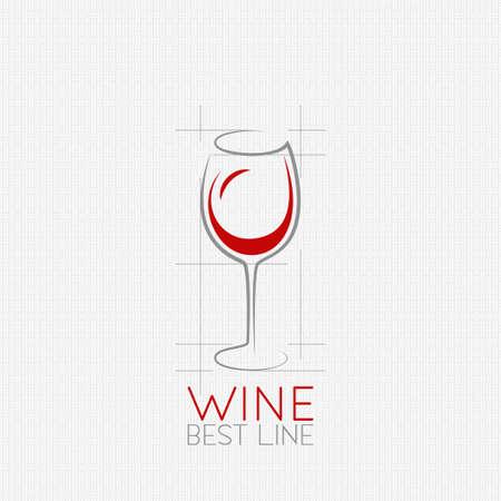 vidro: Projeto do fundo do copo de vinho